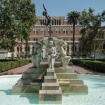 """""""Youth Triumphant"""" in Alumni Park is a landmark on the USC University Park Campus. (Photo/Peter Howard)"""